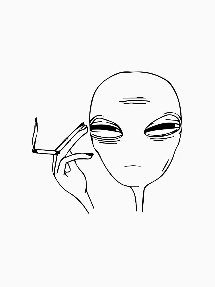 Smoking Alien  by confusious
