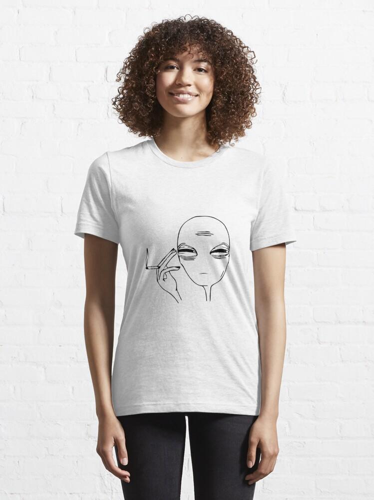 Alternate view of Smoking Alien  Essential T-Shirt