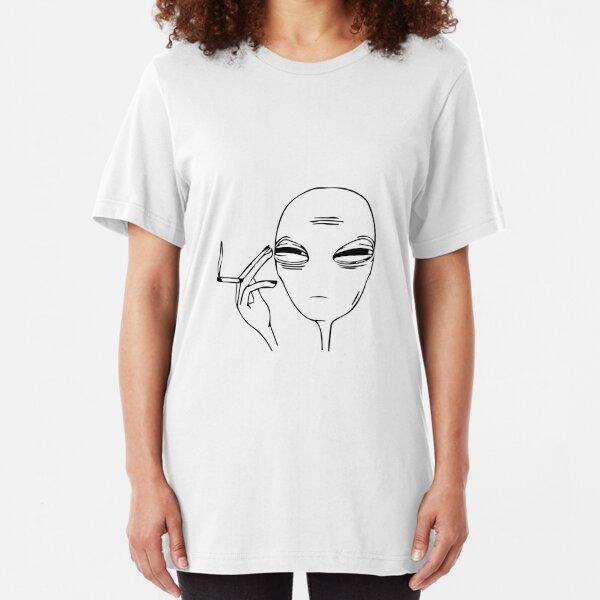 Smoking Alien  Slim Fit T-Shirt
