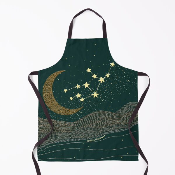 Virgo night sky. Horoscope art Apron