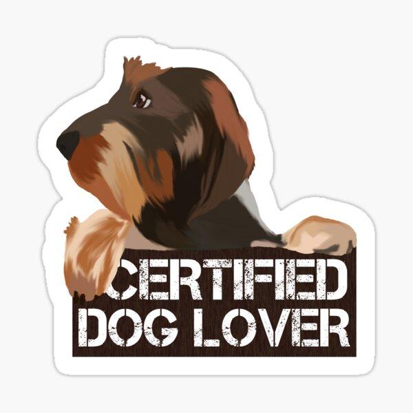Wired-hair Dachshund Dog Lover Sticker