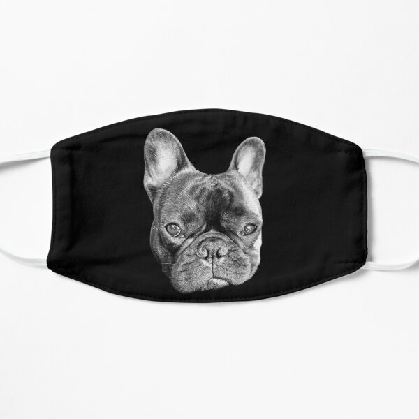 Serious Frenchie bulldog face Mask Mask