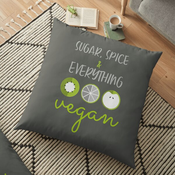 Everything vegan Floor Pillow