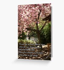 Inspirational Cherry Tree in Bloom Greeting Card