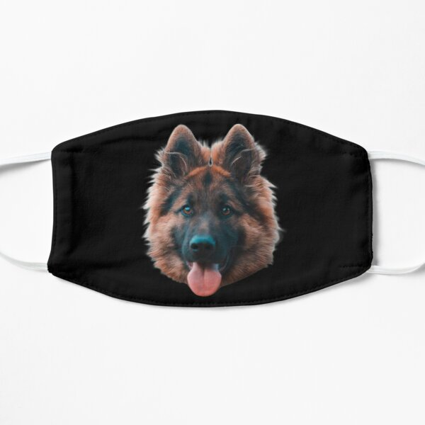 Happy german shepherd face Mask Mask