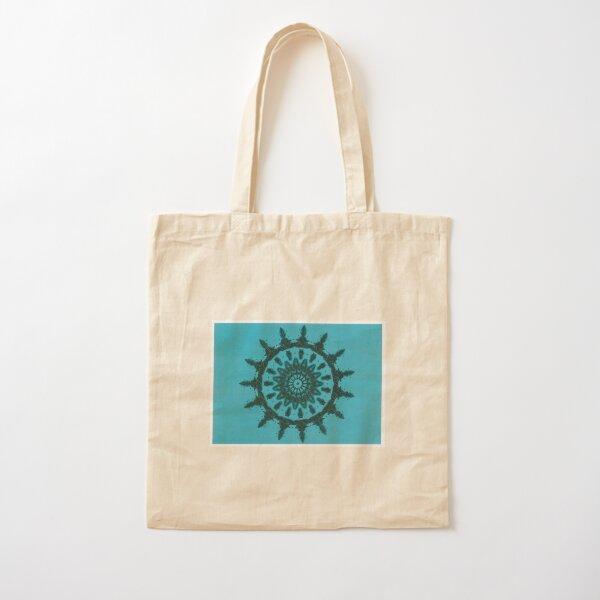 Black on turquoise Picasso Kalaeidoscope Cotton Tote Bag