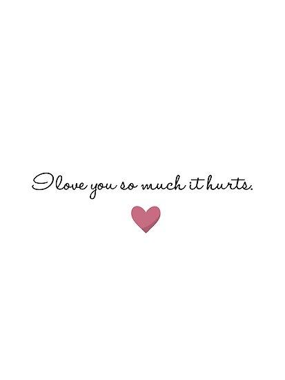 I will love so love you