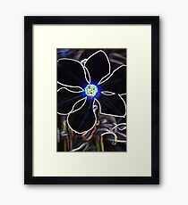 Glowing Poet's Daffodil in Neon  Framed Print