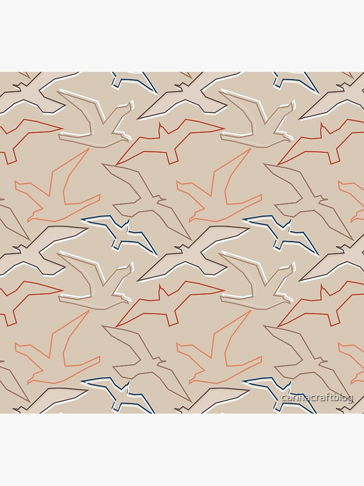 Graphic Gulls Outline by carinacraftblog