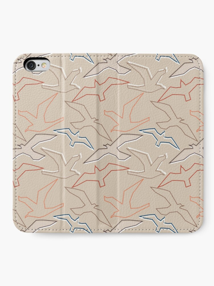 Alternate view of Graphic Gulls Outline iPhone Wallet