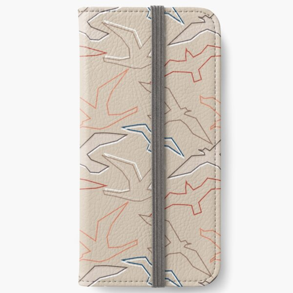 Graphic Gulls Outline iPhone Wallet