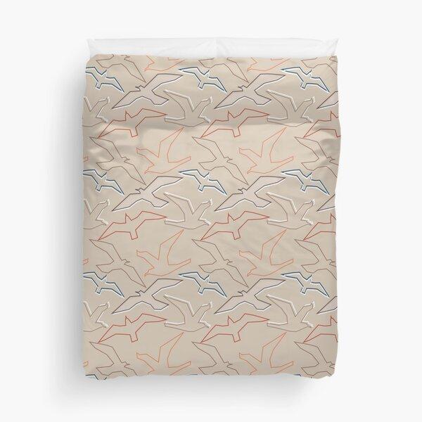 Graphic Gulls Outline Duvet Cover
