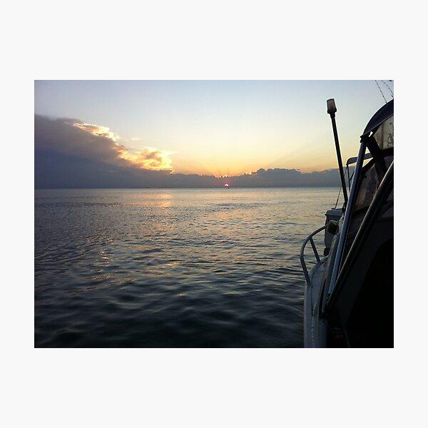 Fishing Over Photographic Print