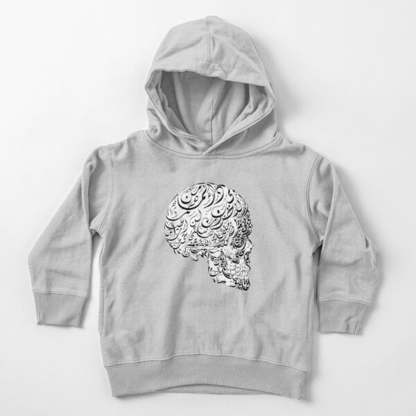 The Human Skull Image Arabic Calligraphy Toddler Pullover Hoodie
