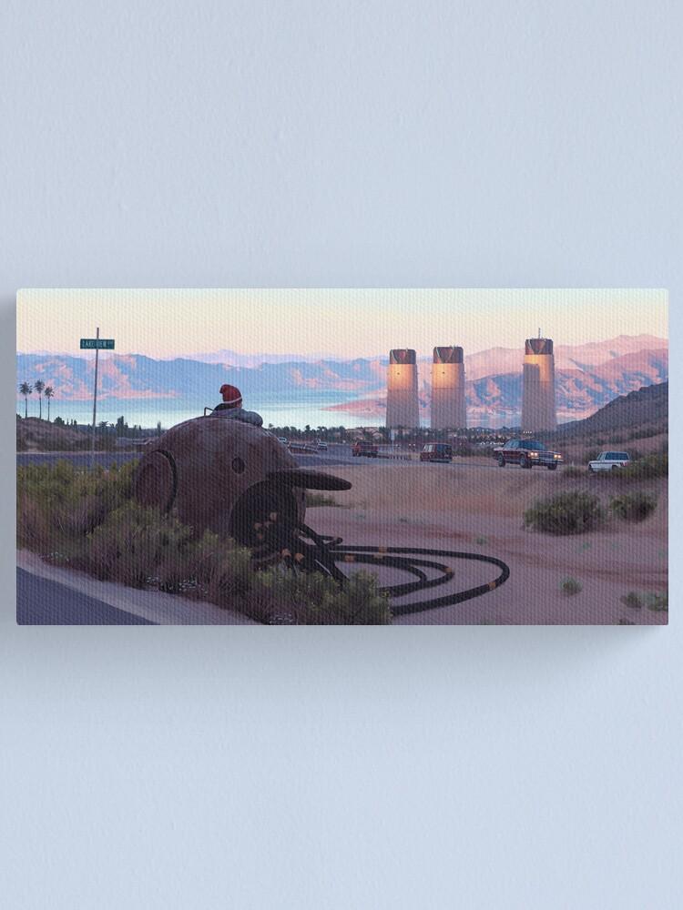 Alternate view of Lake View Drive Canvas Print