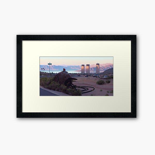Lake View Drive Framed Art Print