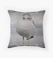 Seagull Affirmations Throw Pillow
