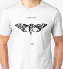 Cicada 3301 everywhere black Unisex T-Shirt