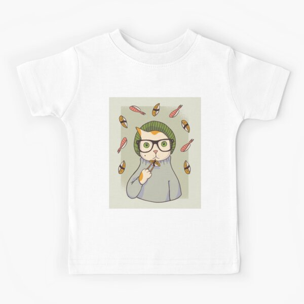 HYPSTER SUSHI CAT Kids T-Shirt