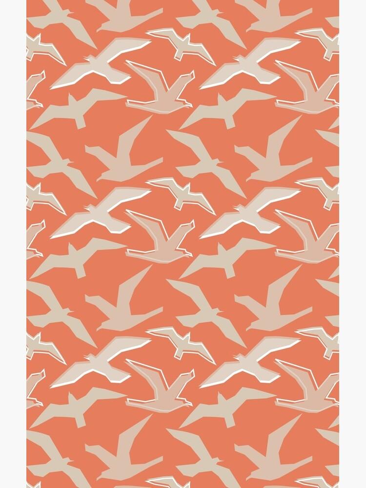 Seagull Silhouettes by carinacraftblog