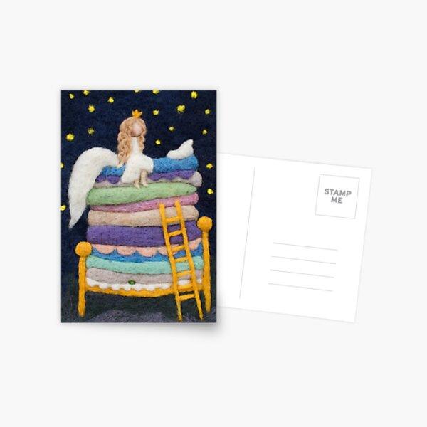 Sleepless princess fairy tale art Postcard