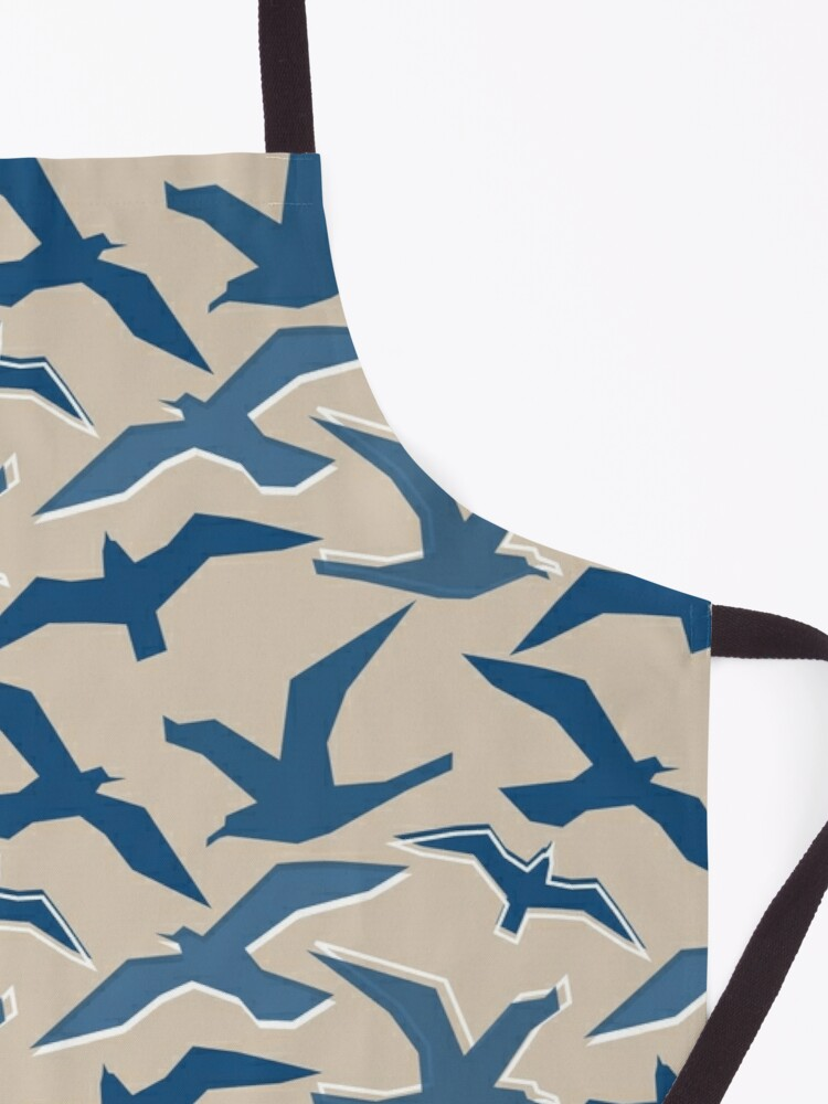 Alternate view of Blue Seagull Silhouettes Apron