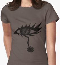 Doodle Spike Eye Womens Fitted T-Shirt