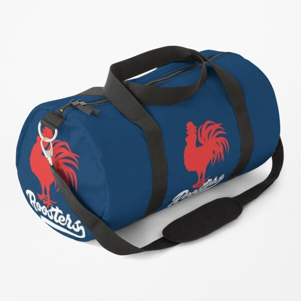 Sydney Roosters NRL - Red Cockerel - White Text with Tail on Rooster Blue! Duffle Bag