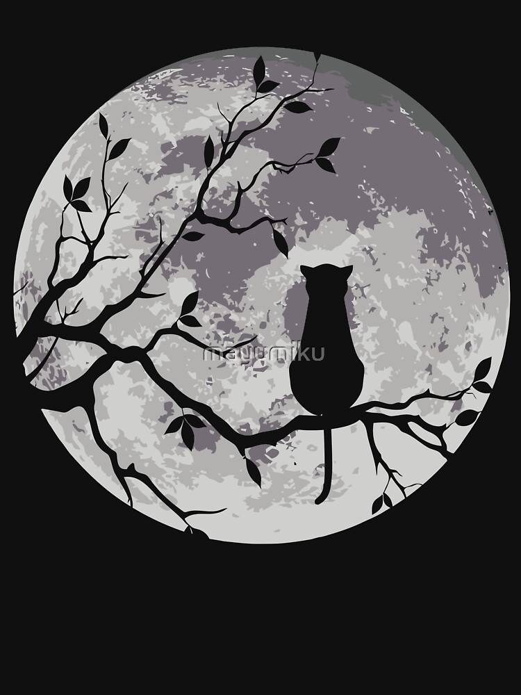 The Cat And The Moon | Unisex T-Shirt