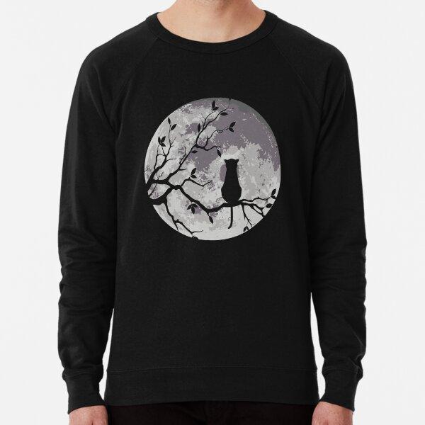 The Cat And The Moon Lightweight Sweatshirt