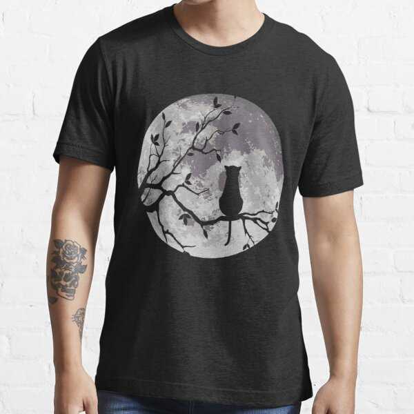 The Cat And The Moon Essential T-Shirt