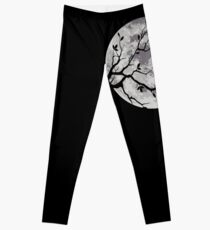 Le chat et la lune Leggings
