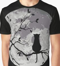 The Cat And The Moon Graphic T-Shirt