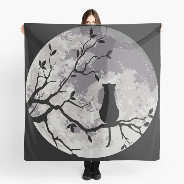 The Cat And The Moon Scarf