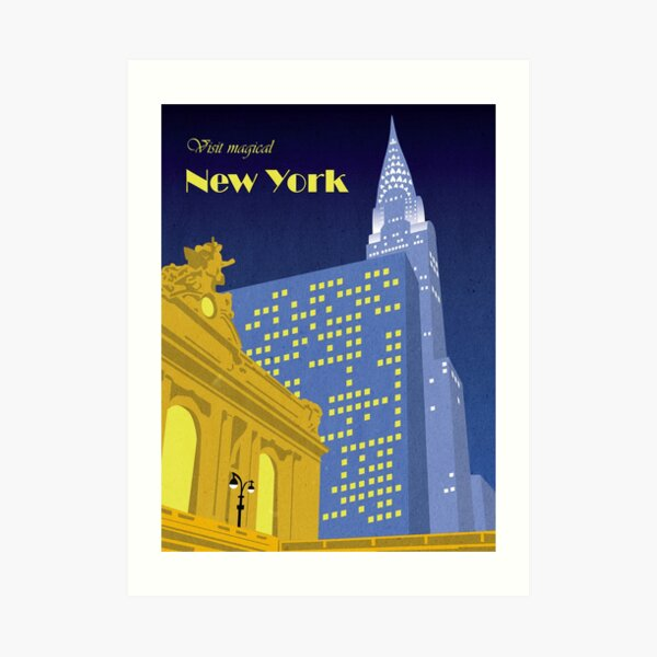 Vintage New York Travel Poster Art Print