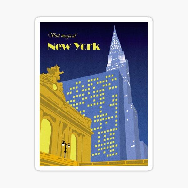 Vintage New York Travel Poster Sticker