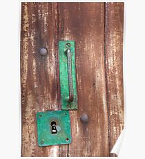 Handle and Keyhole Poster