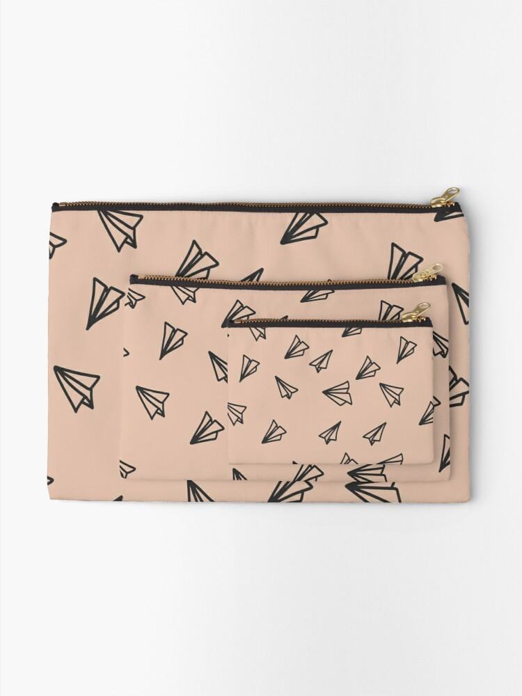 Alternate view of Paper airplanes Zipper Pouch