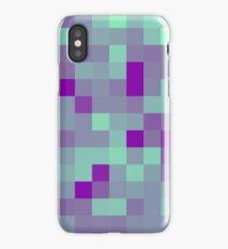 Green and Purple Blocks iPhone Case/Skin