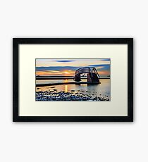 Sunset over the Bridge to Nowhere Framed Print