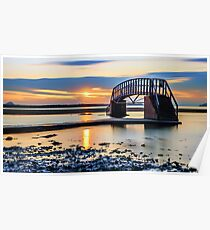 Sunset over the Bridge to Nowhere Poster