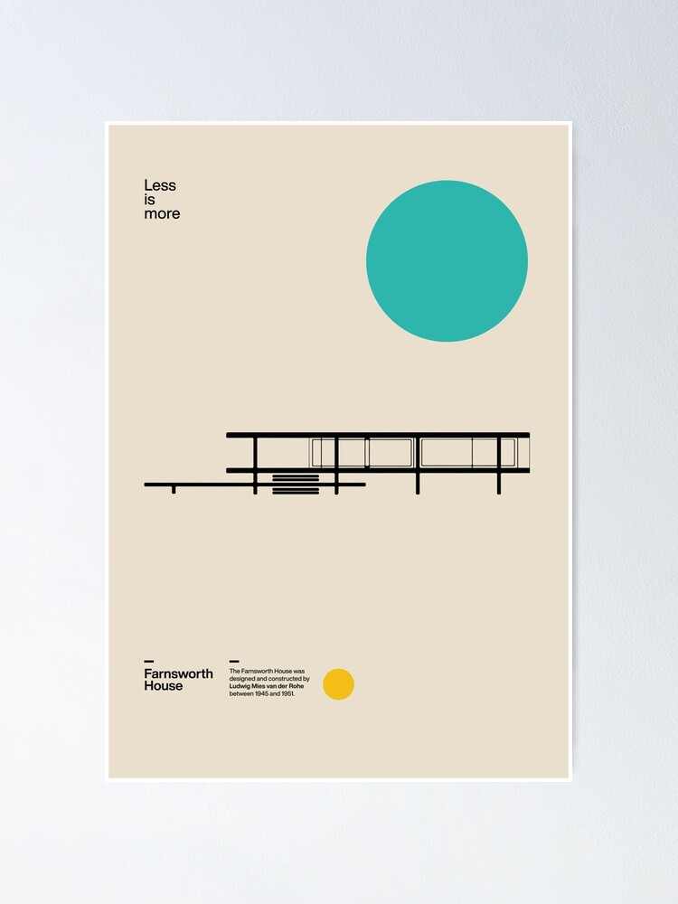 Alternate view of Farnsworth House Poster