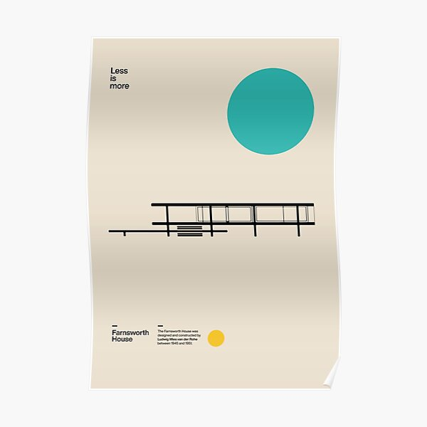 Farnsworth House Poster