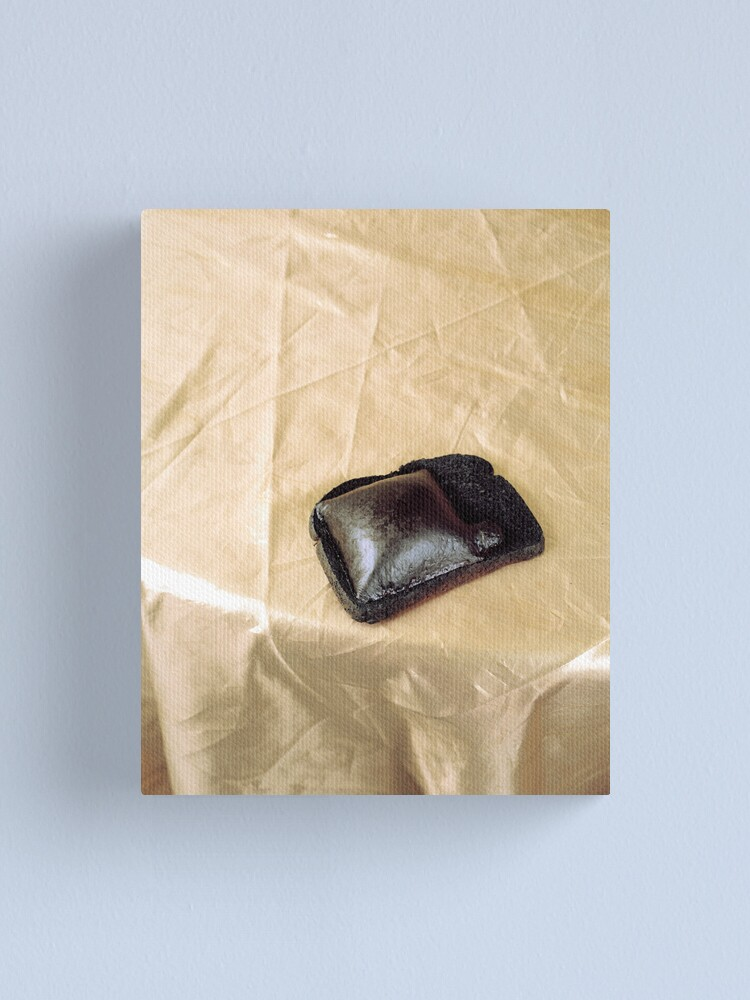 Alternate view of Burnt Toast and Cheese on Gold Table Cloth Canvas Print