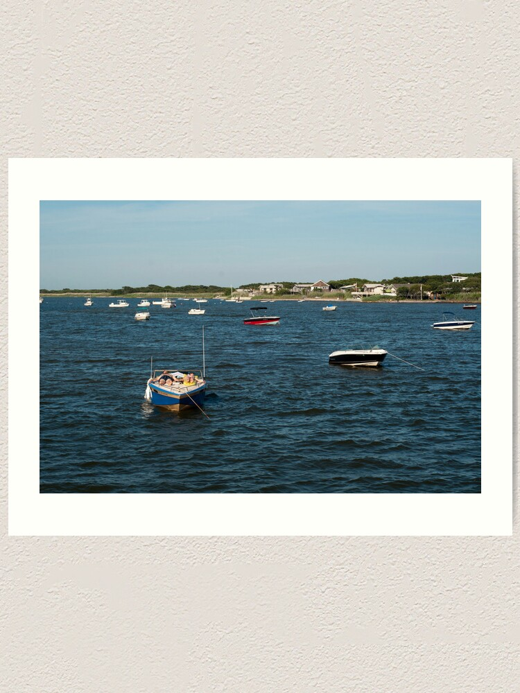 Alternate view of Couple Relaxing on Boat - Fire Island Art Print