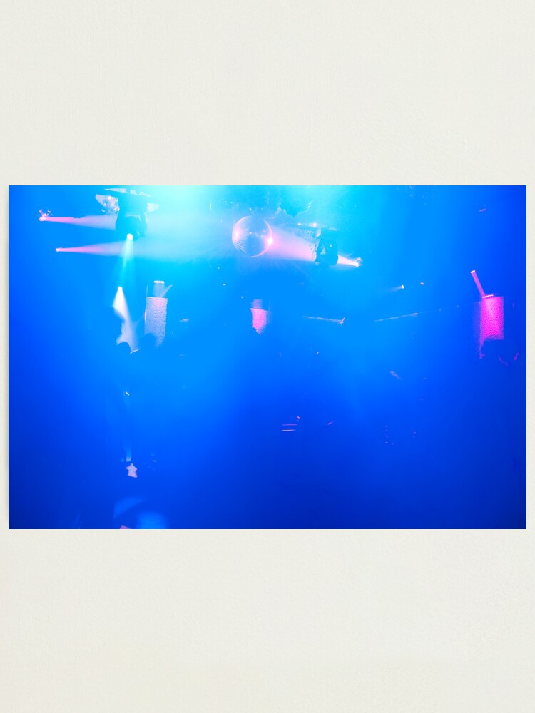 Alternate view of Blue Haze - Dance Club Photographic Print