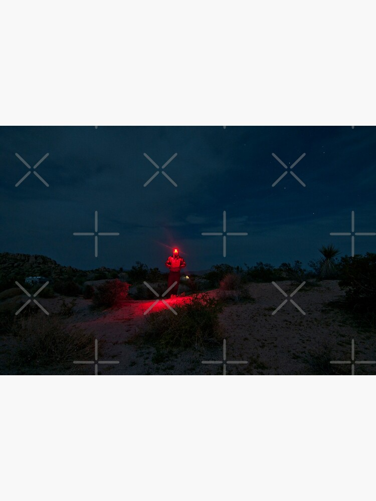 Man with Red Light - Joshua Tree by Bastianelli