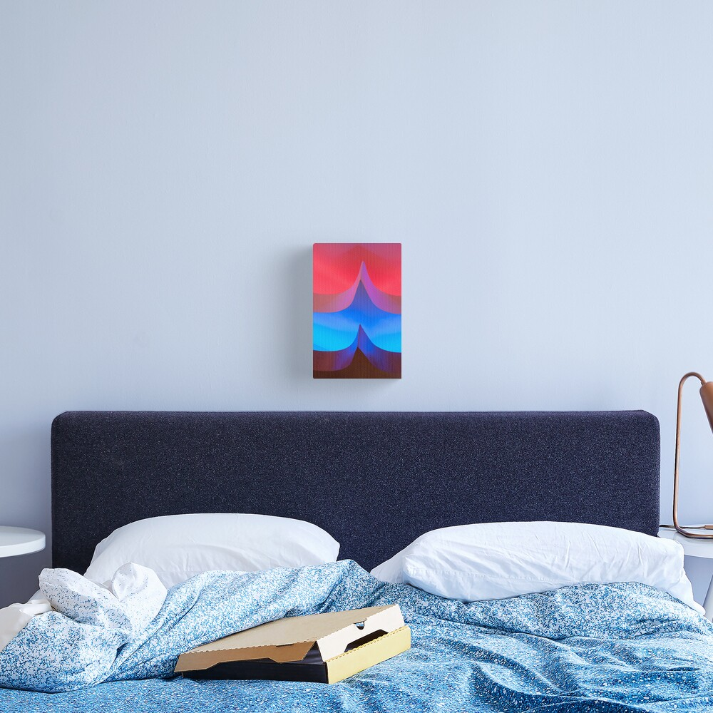 Red & Blue Lights Canvas Print