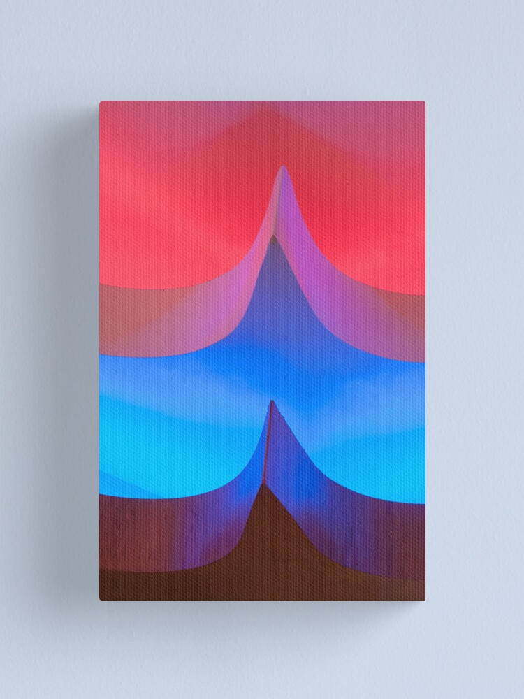 Alternate view of Red & Blue Lights Canvas Print