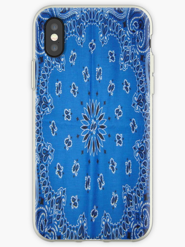 half off 88f25 63722 'Blue Bandana ' iPhone Case by ToniPellegrino